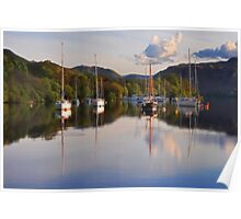 Yachts on Ullswater Poster