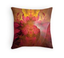 Thinking of pink and yellow Throw Pillow