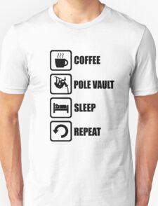 Coffee Pole Vault Sleep Repeat T-Shirt