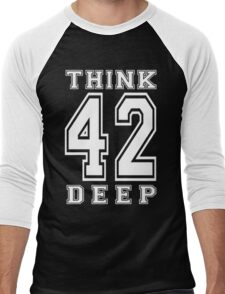 Think Deep 42 Men's Baseball ¾ T-Shirt