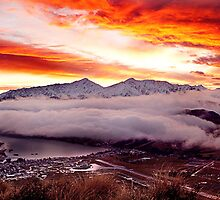 Remarkables Sunset Queenstown by damienlee
