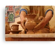 The Hands of the Potter Canvas Print