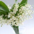 lily of the valley in vase by OldaSimek