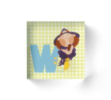 w for witch Acrylic Block