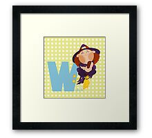 w for witch Framed Print