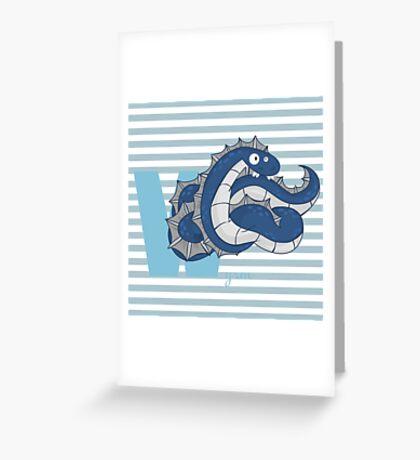 w for wyrm Greeting Card