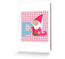p for princess Greeting Card