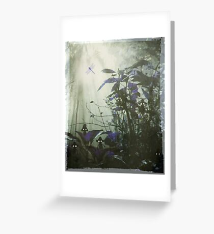 At the bottom of the garden. Greeting Card