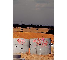 dry wells Photographic Print
