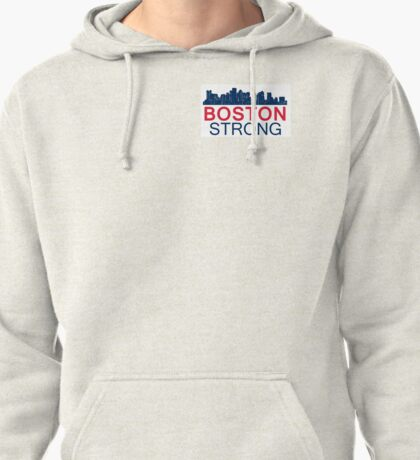 Boston Strong - Skyline Graphic Design Pullover Hoodie