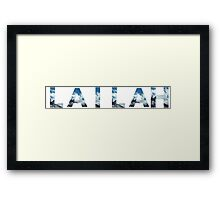 Personalised Name on White - Swiss Alps Framed Print