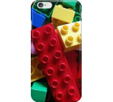 Colourful building blocks iPhone Case/Skin