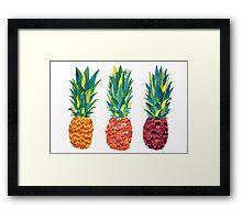 PineApple x3 Framed Print