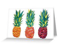 PineApple x3 Greeting Card