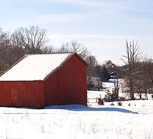 Red Barn in the Snow by BCallahan