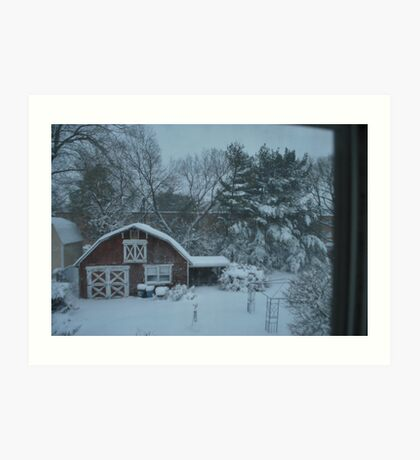 back yard from above...  Art Print
