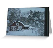 back yard from above...  Greeting Card
