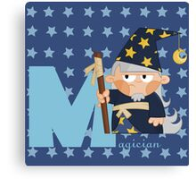 m for magician Canvas Print