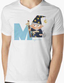 m for magician Mens V-Neck T-Shirt