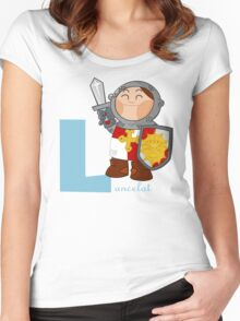 l for lancelot Women's Fitted Scoop T-Shirt