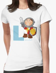 l for lancelot Womens Fitted T-Shirt