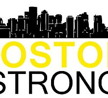 Boston Strong - Skyline Black and Yellow by Four4Life