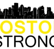 Boston Strong - Skyline Black and Yellow Sticker