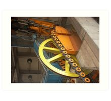 Mechanics of pulley system NYC Art Print