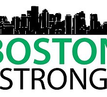 Boston Strong - Skyline Black and Green by Four4Life