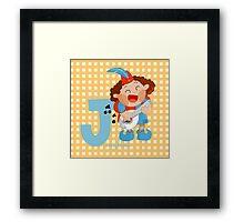 j for jongleur Framed Print