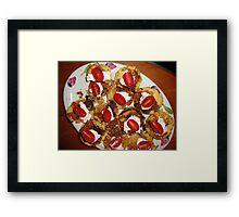 Food New Years Eve Framed Print