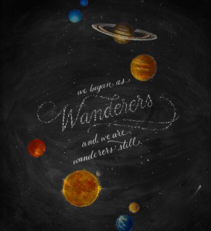 Wanderers - Carl Sagan Chalk Art Sticker