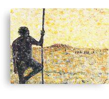Aborigine with fighting stick Metal Print