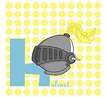 h for helmet Photographic Print