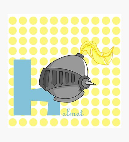 h for helmet Photographic Print