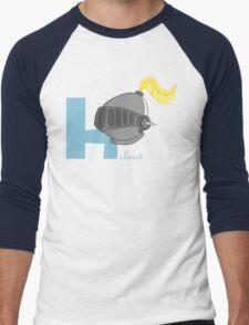 h for helmet Men's Baseball ¾ T-Shirt