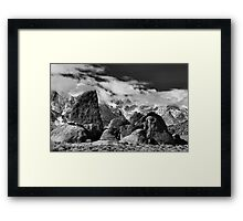 Sharkfin and Mt. Whitney Framed Print