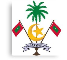 Coat of Arms of Maldives  Canvas Print