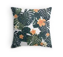Tropical blossom Throw Pillow
