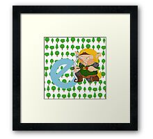 e for elf Framed Print