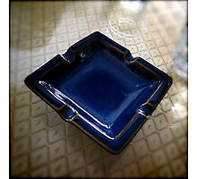 Ashtray, Blue Bird Cafe - Shenzhen, China Photographic Print