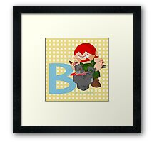 b for blacksmith Framed Print