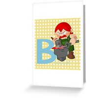 b for blacksmith Greeting Card