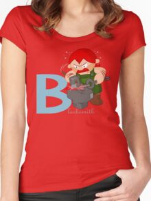 b for blacksmith Women's Fitted Scoop T-Shirt