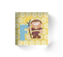 f for farmer Acrylic Block
