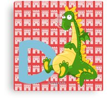 d for dragon Canvas Print