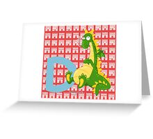 d for dragon Greeting Card