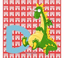 d for dragon Photographic Print