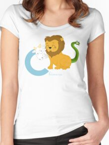 c for chimera Women's Fitted Scoop T-Shirt