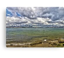 Sydney with Icons Canvas Print